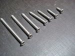 #8 with #6 stainless steel phillips oval head sheet metal screws