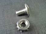 55 56 Chevy stainless grille rivet screw & nut